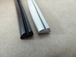 AE5 ... Awning Rail Rubber Edging BLACK or GREY