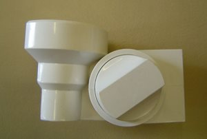 T25A Shower Wall Bracket White