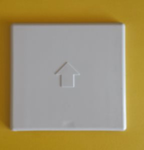 GO12 ... Lid For (Gas) Outlet Box Beige