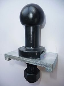 TB22 ... High Rise Towball with Locking Plate 22mm Shank 3500kg