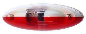 L6 ... Red/Clear Oval Side Marker Light Complete