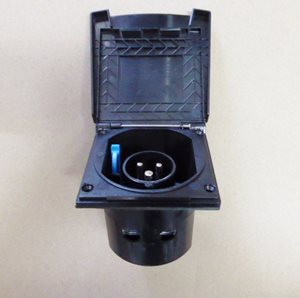 MF5 Black ... Flush Fit 230V Mains Inlet Box Black