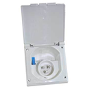 MF2 White ... Flush Fitting 230V Mains Inlet Plug & Box WHITE
