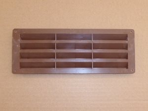 V10 ... Exterior Louvre Vent Brown