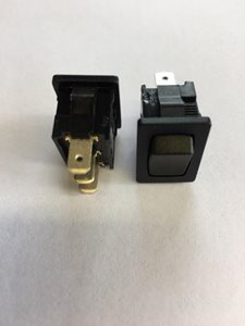 PS27 ... Small Black Centre Off Rocker Switch