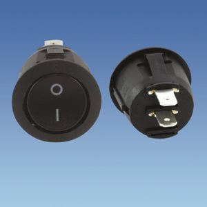 PS18 ... Black Circular On/Off Rocker Switch